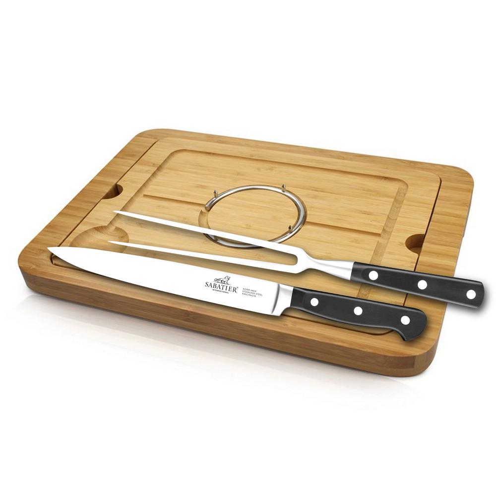 Sabatier® Pluton Carving Set With Board