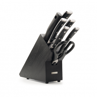 Wusthof Classic Ikon 7pc Knife Block Black Ash (WT1090370703)