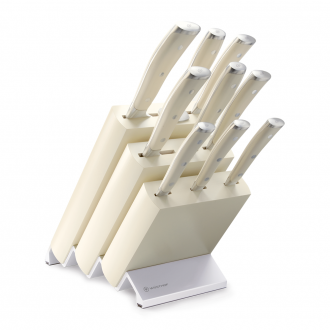 Wusthof Classic Ikon Cream 9pc Knife Block Creme Ash (WT1090470901)