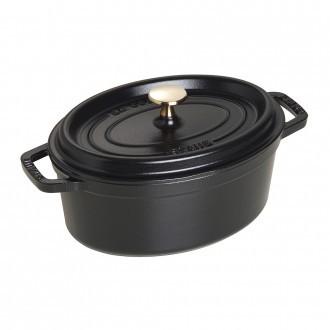 Staub Cast Iron Cocotte Oval 23cm Black (40500-231-0)