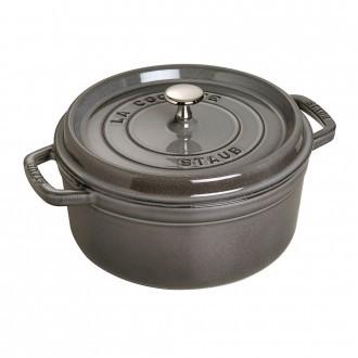 Staub Cast Iron Cocotte 24cm Graphite Grey (40500-246-0)