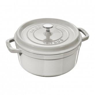 Staub Cast Iron Cocotte 24cm White Truffle (40501-412-0)