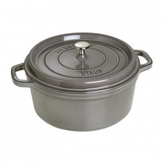 Staub Cast Iron Cocotte 26cm Graphite Grey (40509-312-0)