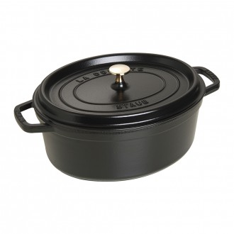Staub Cast Iron Cocotte Oval 31cm Black (40509-319-0)
