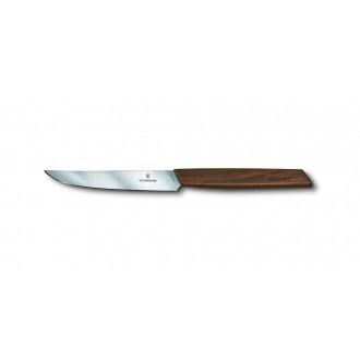 Victorinox Swiss Modern Walnut 12cm Steak Knife 2 Piece Set Straight Edge (6900012G)