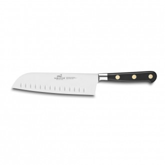 Sabatier Ideal Inox 18cm Santoku Knife With Granton Edge