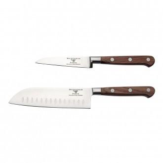 Rockingham Forge Pro Wood Series 2 Piece Set (9cm Paring Knife & 13cm Santoku Knife)