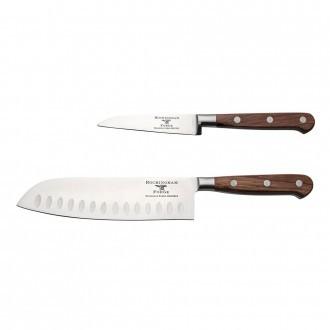Rockingham Forge Pro Wood Series 2 Piece Set (9cm Paring Knife & 18cm Santoku Knife)