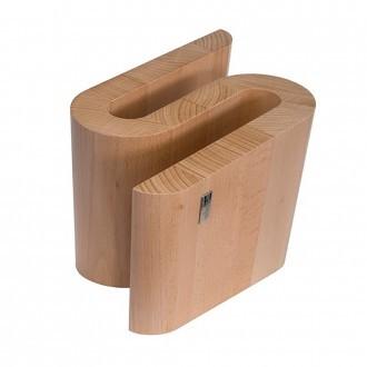 Artelegno Grand Prix Chicane Magnetic Beechwood Knife Block