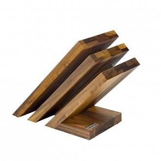 Artelegno Venezia 3-tier Magnetic Walnut Knife Block