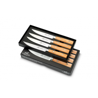 Sabatier® Gaucho 4 Piece Steak Knife Set - Natural Beech Handle (900484)