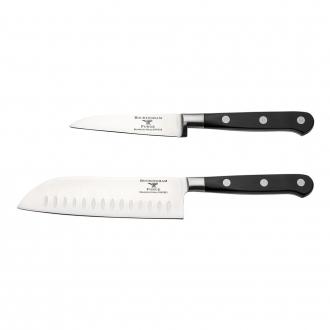 Rockingham Forge Pro Black Series 2 Piece Set (9cm Paring Knife & 13cm Santoku Knife)