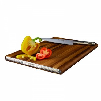 GCB-2545A Global Chopping Board Acacia (30cm x 45cm x 2.5cm)
