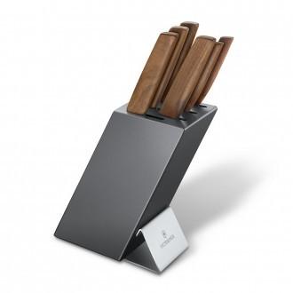 Victorinox Swiss Modern Walnut 6 Piece Cutlery Block (671866)