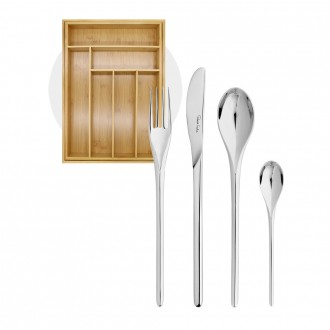 Robert Welch Bud Bright V 24 Piece Set with Free Small Cutlery Tray