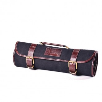 Boldric Canvas Knife Bag Black 9 Slots