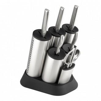 Global G Series 7 Piece Engine Knife Block Set (G-2020/7B)