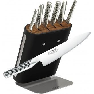 Global Hiro 7 Piece Knife Block Set (G-656/7BL)