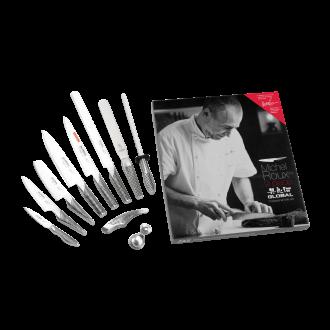 Global Michel Roux Jr GROUX9 - 9 Piece Boxed Knife Set (G-ROUX/9)