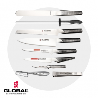Global 35th Anniversary 10 Piece Chef's Knife Case Set