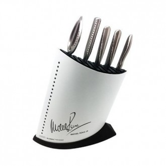 Global Michel Roux Jr GR52/WB6 - 6 Piece Black Knife Block Set (GR52/WB6)