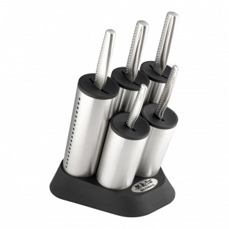 Global NI Series 6 Piece Engine Knife Block Set (GN-2020/6B)
