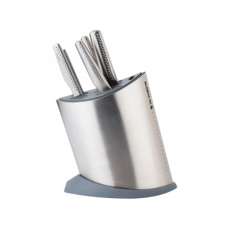 Global Knives NI Series 6 Piece Knife Block Set Stainless Steel (GN-652/GB)