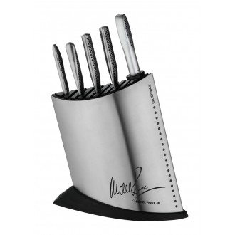 Global Michel Roux Jr GR52/SS7 - 7 Piece Red Knife Block Set (GR52/SS7)