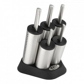 Global Ukon 6 Piece Engine Knife Block Set (GU-20202/6B)