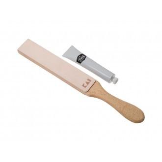 Kai Polishing Strop Set - Stropping Paddle & Polishing Paste (KAI-STROP)