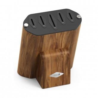 Rockingham Forge Acacia Wood Knife Block (KB-100AC)