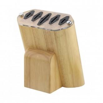 Rockingham Forge Rubber Wood Knife Block (KB-100RW)
