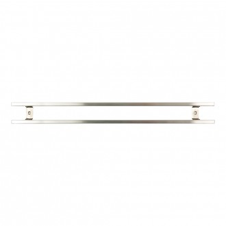 Rockingham Forge Magnetic Stainless Steel Knife Rack with Hooks 60cm