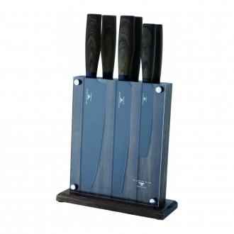 Rockingham Forge Safe D Round Tip 7 Piece Knife Block Set (RF-618/7D)