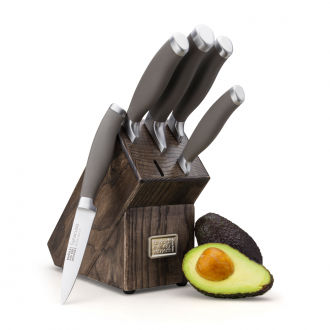 Taylors Eye Witness Syracuse Earth 20cm Knife Block Set - Ash (RST1B01)