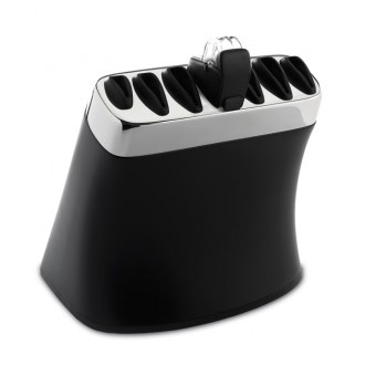 Robert Welch Signature Black Knife Block With Sharpener