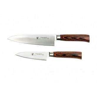 Tamahagane San Tsubame Wood 2 Piece Boxed Knife Set (SN-110609)