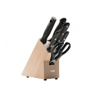 Wusthof Gourmet 6 Piece Knife Block with Free Kitchen Shears.